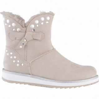 Marco Tozzi coole Damen Velour Imitat Winter Boots rosa, Warmfutter, warme Decksohle, 1639346