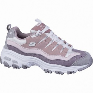 Skechers D Lites Sure coole Damen Synthetik Sneakers pink, Meshfutter, Air-Cooled Memory Foam-Fußbett, 4142144/36