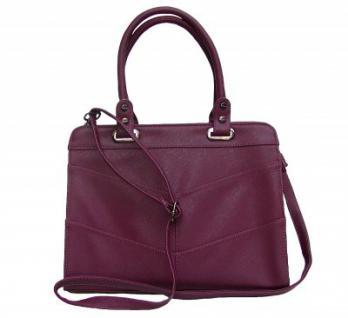 Angel kiss AK5990 bordeaux modische Tasche Kelly Bag Style, Shopper, 3 Hauptfächer, langer Trageriemen, 34x27x13 cm