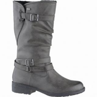 Indigo modische Mädchen Synthetik Winter Tex Stiefel graphite, Warmfutter, warmes Fußbett, 3739162/38