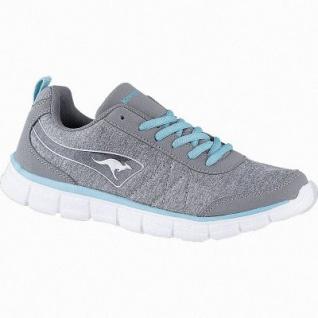 Kangaroos KR-Run REF coole Damen Synthetik Sneakers grey, Mesh Futter, Kangaroos Decksohle, Laschen-Tasche, 4041109/37