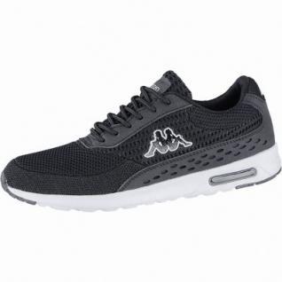 Kappa Milla Sun modische Damen Textil Synthetik Sneakers black, herausnehmbares Kappa Fußbett, 4240111