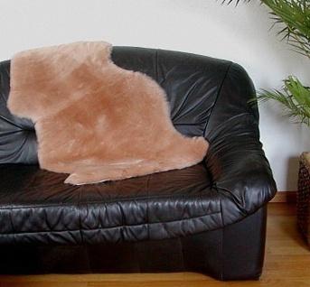 australische Lammfelle camel gefärbt geschoren, waschbar, ca. 100x55 cm