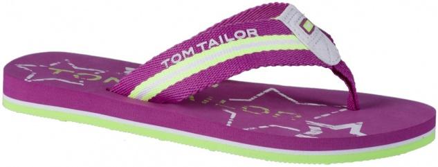 TOM TAILOR Mädchen Textil Pantoletten pink, softes Fußbett, weiche Laufsohle
