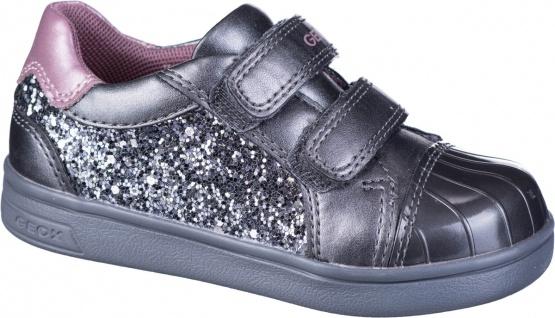 GEOX Mädchen Synthetik Lauflern Sneakers grey, Geox Leder Fußbett, Meshfutter