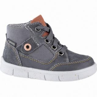 Superfit coole Jungen Leder Lauflern Sneakers grau, Tex Ausstattung, mittlere Weite, herausnehmbares Fußbett, 3141101/23