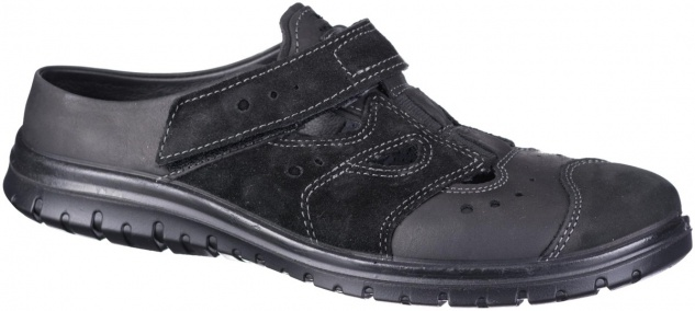 JOMOS Herren Leder Pantoletten schwarz, Textilfutter, Jomos Aircomfort Fußbett