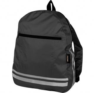 Safety Maker faltbarer Rucksack reflektierend schwarz, sichtbar bis 100 m, in...