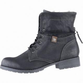 TOM TAILOR coole Damen Synthetik Winter Boots schwarz, Warmfutter, Fersen Reißverschluss, 1639287/41