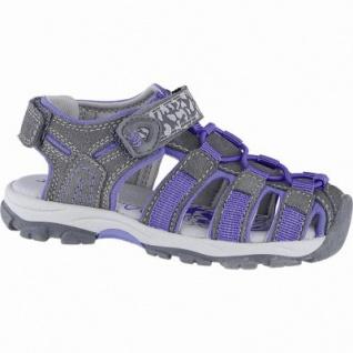 Lurchi Bobby sportliche Jungen Leder Sandalen grey, mittlere Weite, Lurchi Fußbett, 3540117/34