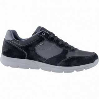 Geox modische Herren Leder Sneakers schwarz, herausnehmbares Geox Lederfußbett, atmungsaktive Laufsohle, 2139117/42