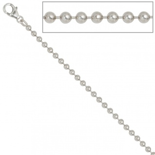 Kugelkette 925 Silber 3, 0 mm 60 cm Halskette Kette Silberkette Karabiner