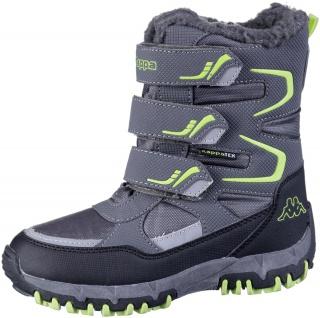 KAPPA Great Tex Jungen Synthetik Winter Boots grey, Warmfutter, wasserdicht, ...