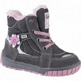 Lurchi Jona Mädchen Winter Leder Tex Boots grey, molliges Warmfutter, warmes Fußbett, 3241117 - Vorschau 1