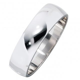 Armreif Armband oval breit 925 Sterling Silber Kastenschloss Silberarmreif