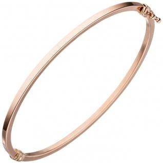 Armreif Armband oval schmal 585 Gold Rotgold Rotgoldarmband Rotgoldarmreif