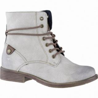 TOM TAILOR Mädchen Winter Leder Imitat Boots offwhite, 12 cm Schaft, Fleecefutter, weiches Fußbett, 3741163/36