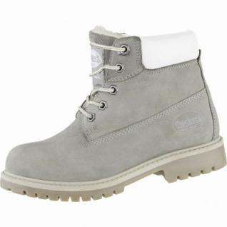 Dockers coole Damen Leder Winter Boots hellgrau, Warmfutter, Dockers Profilsohle, 3739180