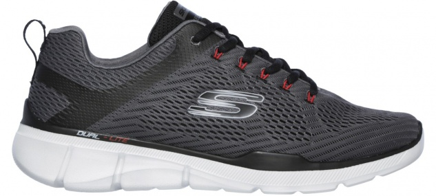 SKECHERS Equalizer 3.0, sportliche Herren Sneakers charcoal, weiches Air Cool...