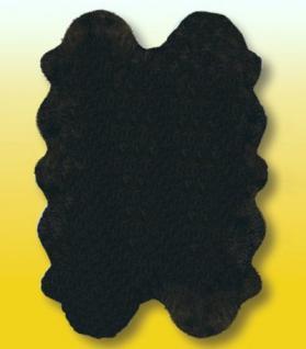 Fellteppiche schwarz gefärbt aus 4 Lammfellen, Größe ca. 185 x 125 cm, 30 Grad waschbar