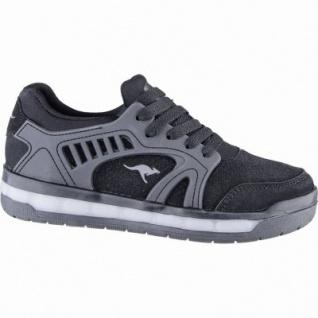 Kangaroos K-Athled II coole Jungen Synthetik Sneakers black, weiches Fußbett, Laschen-Tasche, 3339102
