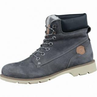 Dockers coole Damen Winter Nubukleder Boots asphalt, Warmfutter, griffige Profilsohle, 1637207/37