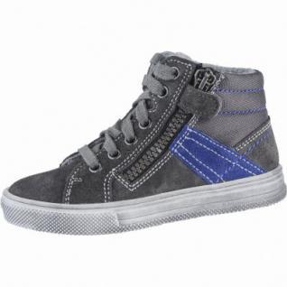 Richter Jungen Winter Leder Boots steel, Warmfutter, warmes Fußbett, mittlere Weite, 3739202