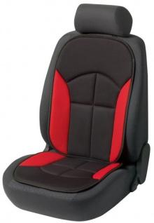 bequeme Universal Auto Sitzauflage Novara rot, hohes Rückenteil, 30 Grad waschbar, alle PKW