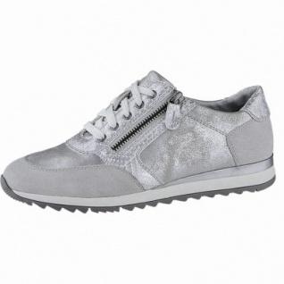 Jana modische Damen Synthetik Edel Sneakers silver, Jana Fußbett, Extra Weite H, 1340134