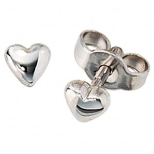 Ohrstecker Herz Herzen 585 Gold Weißgold Ohrringe Weißgoldohrstecker
