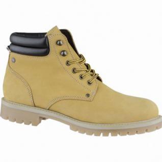 Jack&Jones Stoke coole Herren Leder Winter Boots honey, Warmfutter, modische Profilsohle, 2539114/43
