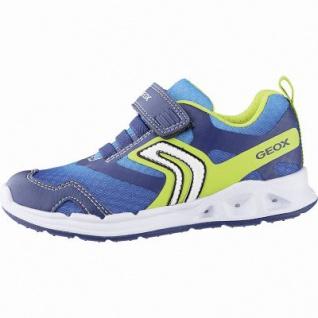 Geox coole Jungen Synthetik Sneakers navy, Meshfutter, herausnehmbares Leder Fußbett, 3342129/25