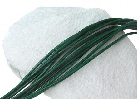 10 Stück Ziegenleder Rundriemen dunkelgrün, geschnitten, für Lederschmuck, Le...