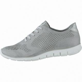 Marco Tozzi coole Damen Metallic Leder Sneaker grey, gepolsterte Feel me Decksohle, 1240154/39