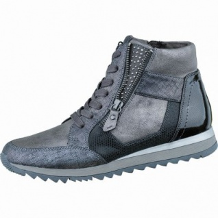 Jana sportliche Damen Synthetik Sneakers silver, Extra Weite H, Microfutter, Jana-Soft-Step-Fußbett, 1337109/37