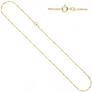 Schmuck-Set 585 Gold Gelbgold 3 Amethyste lila violett Ohrringe und Kette 42 cm