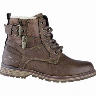TOM TAILOR Jungen Leder Imitat Winter Tex Boots rust, 10 cm Schaft, molliges Warmfutter, warmes Fußbett, 3741157/40