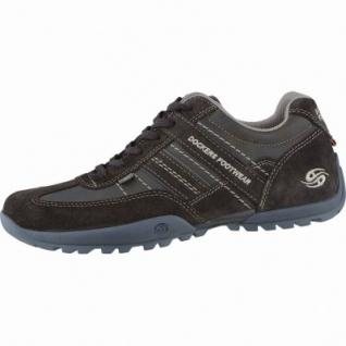 Dockers sportliche Herren Leder Sneakers schoko, Dockers Fußbett, 2138124