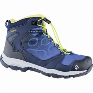 Jack Wolfskin Akka Texapore Mid B Jungen Mesh Outdoor Schuhe vibrant blue, Schnellschnürsystem, 4439138