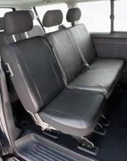 Passform Sitzbezüge VW T5, passgenauer Kunstleder Sitzbezug Einzelsitz hinten, waschbar, Bj. 04/2003-06/2015