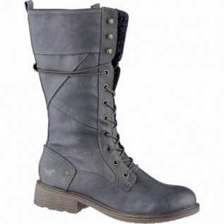 Mustang coole Damen Synthetik Stiefel graphit, Warmfutter, warme Mustang Decksohle, 1639296/37