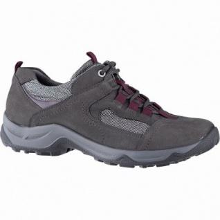 Waldläufer Hadel 18 Damen Leder Sneaker carbon, Extra Weite H, Leder Fußbett, für lose Einlagen, 1341119/8.0