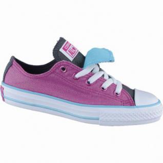 Converse CTAS Double Tongue coole Mädchen Canvas Sneakers Low magenta, Textilfutter, 4238189/38
