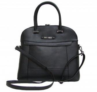 Angel kiss AK5967 schwarz modische Tasche, Handtasche, Shopper, 1 Hauptfach, langer Trageriemen, 35x33x10 cm