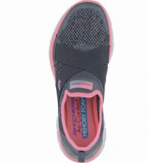 Skechers New Image coole Damen Mesh Sneakers charcoal coral, Air-Cooled-Memory-Foam-Fußbett, 4238135/41 - Vorschau 2
