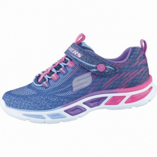Skechers Litebeams coole Mädchen 3D-Printed-Mesh Sneakers navy, Skechers Laufsohle, 4238172