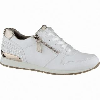 TOM TAILOR coole Damen Synthetik Sneakers white mit Accessoires, gepolsterte Tom-Tailor-Decksohle, 1240179