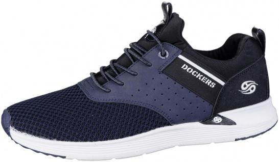 DOCKERS Herren Mesh Sneakers navy, Laufsohle mit Dockers Logo