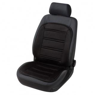 weiches Polyester Jersey Auto Sitzheizkissen schwarz mit Regelschalter. Heizf...