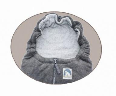 molliger Baby Winter Fleece Fußsack schwarz, für Tragschalen, Autositze, ca. 79x39 cm, warm wattiert - Vorschau 2